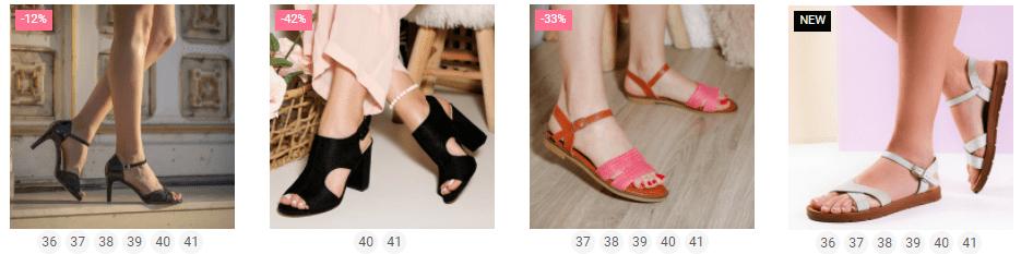 sandale dama toc lat